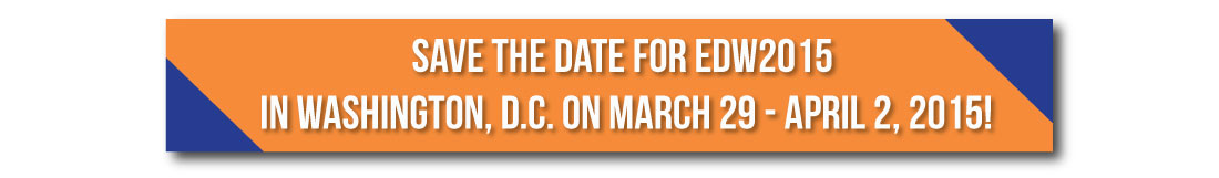 Save the Date for EDW2015 in Washington D.C.!